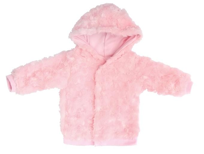 Mamatti Kojenecká bundička Bow - chlupáčková, světle růžová, vel. 74, Velikost: 74 (6-9m)