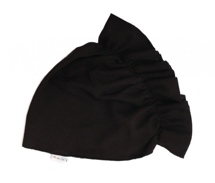 Mamatti Bavlněná  dětská čepice - turban, černý, vel. 2 - 3 roky