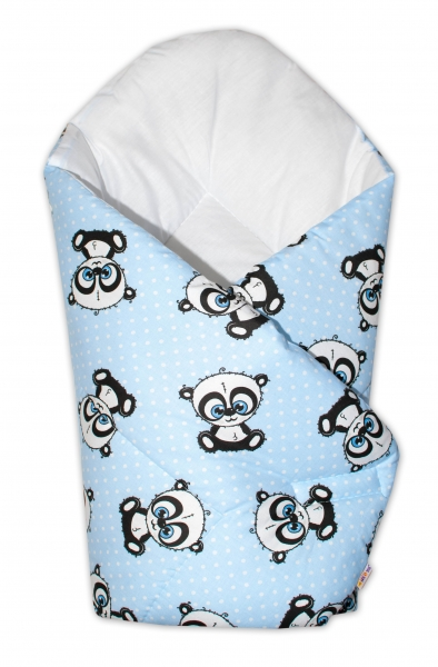 Novorozenecká zavinovačka Cute Animals, 75x75 cm, Baby Nellys - modrá
