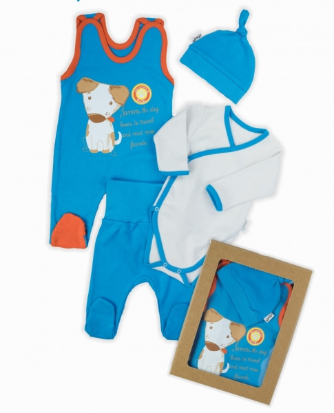 NICOL Komplet oblečení Dog - 4 dílný, modrý