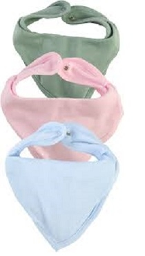 Dětský bavlněný šátek na krk Nicol, sada 3ks