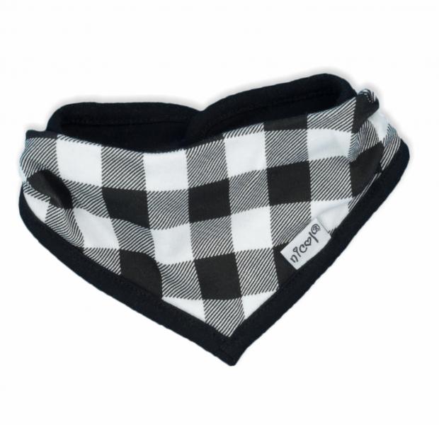 NICOL Bavlněný šátek na krk Bunny kárko - černobílé