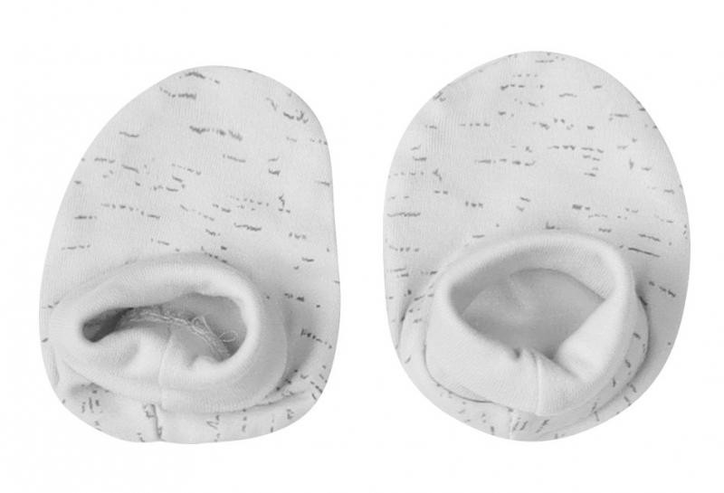 Mamatti Kojenecké botičky, ponožtičky Star - šedý melírek