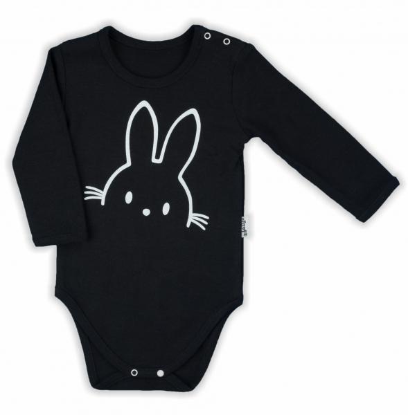 Nicol Body dlouhý rukáv Bunny kárko - černé, vel. 86