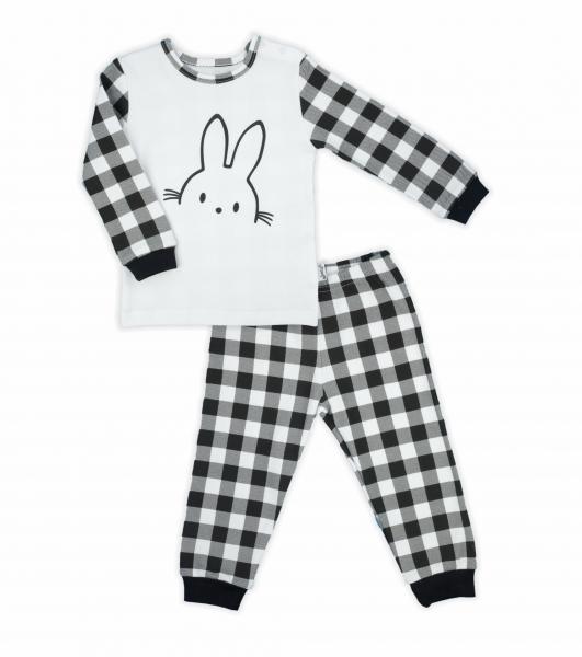 Nicol dětské pyžamo Nicol Bunny kárko - černobílé