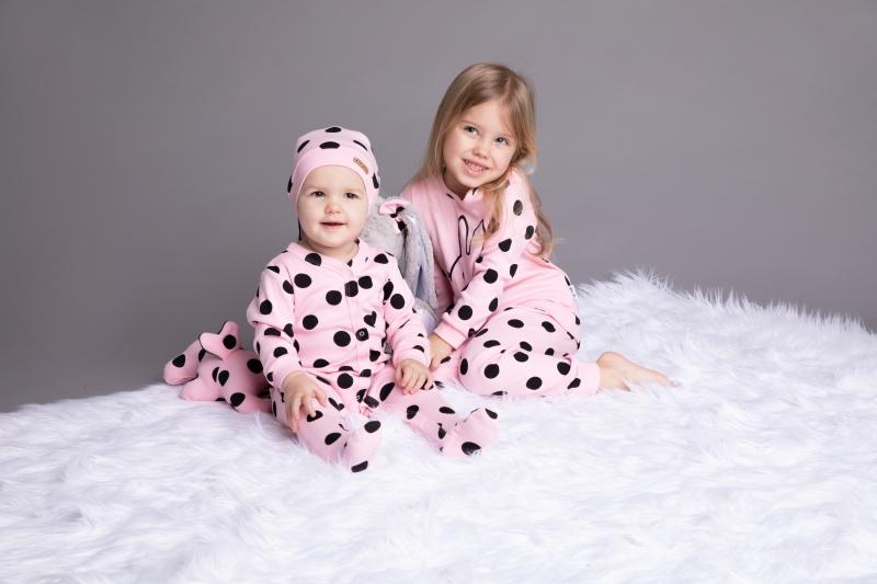 Nicol dětské pyžamo Nicol Bunny puntík - světle