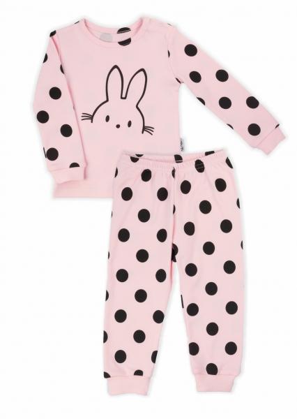 Nicol dětské pyžamo Nicol Bunny puntík - světle růžové, vel. 92