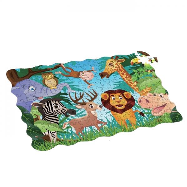 Puzzle zvířata v džungli 208 ks, 90x64 cm