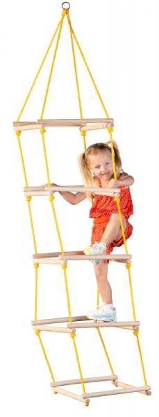Woody, Dětský šplhací žebřík s dřevěnými příčkami, nosnost max. 60 kg