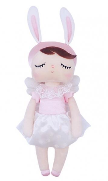 Hadrová panenka Metoo Andílek v květované sukničce - růžová