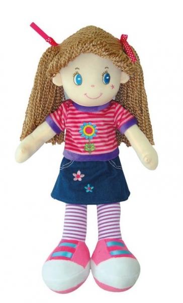 Smily Play, Hadrová panenka s hnědými vlásky, 45 cm