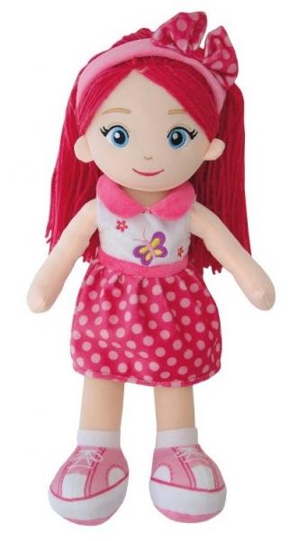 Smily Play, Hadrová panenka s růžovými vlásky, 38 cm