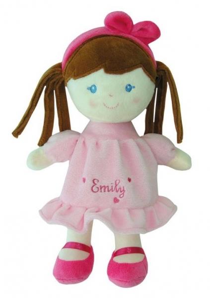 Smily Play, Hadrová panenka Emily s hnědými vlásky, 25 cm