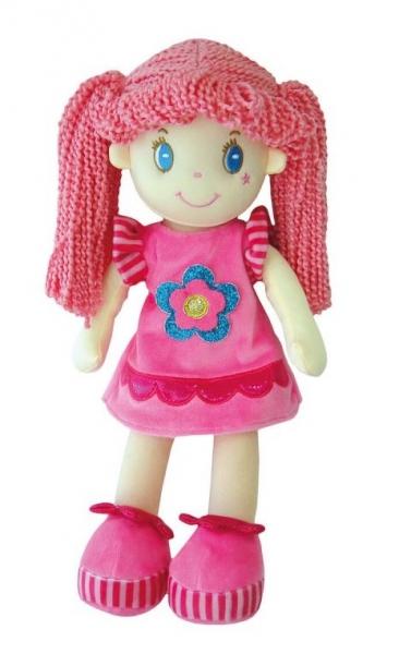 Smily Play, Hadrová panenka s růžovými vlásky, 35 cm