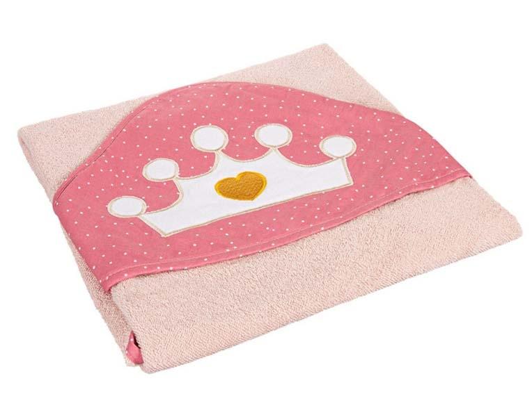 Canpol Babies Měkká osuška s kapucí, 85x85cm - Queen, růžová