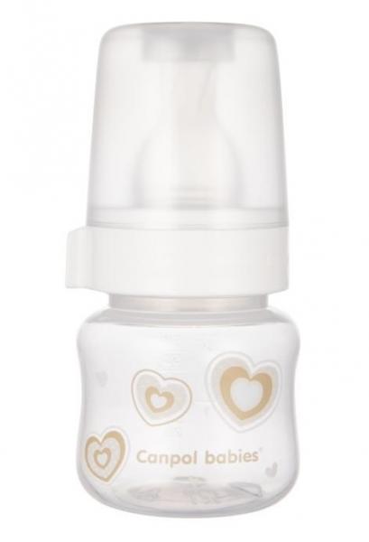 Canpol babies lahvička se širokým hrdlem New born Baby, 60ml - béžová