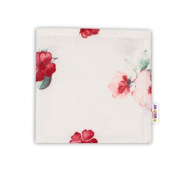 Baby Nellys Mini flanelová plenka Evelína - Květinky růžové