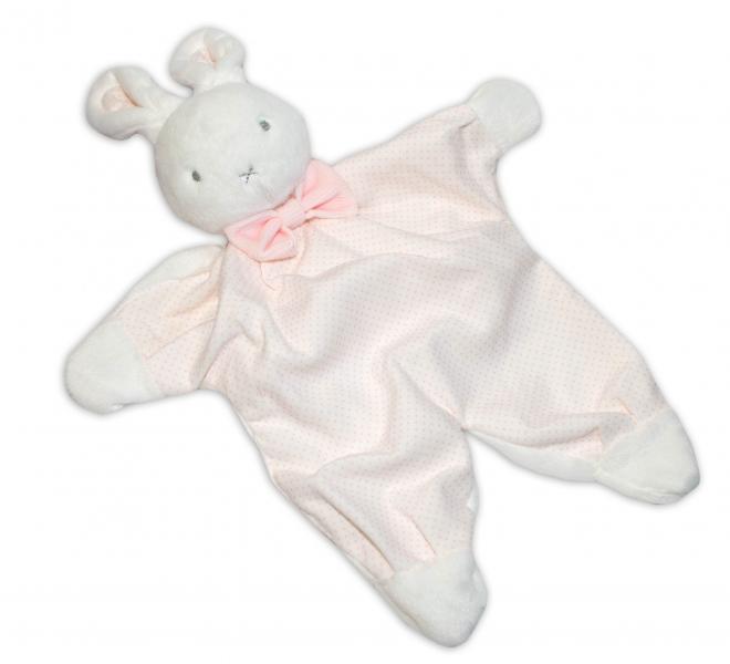 Přítulníček, mazlík BOBO BABY - Králíček, bílá/růžová