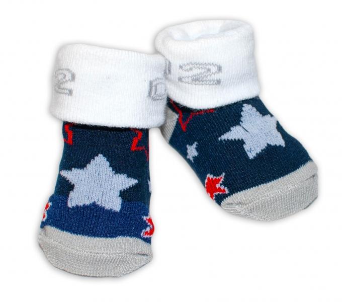 Kojenecké ponožky, 0 - 6 měsíců, Bobo Baby - Hvězdičky