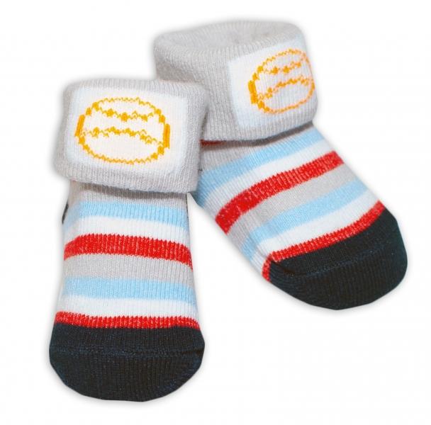 Kojenecké ponožky, 0 - 6 měsíců, Bobo Baby - Proužky