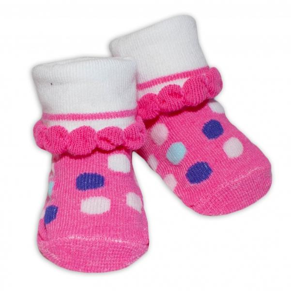 Kojenecké ponožky, 0 - 6 měsíců, Bobo Baby - Puntíky