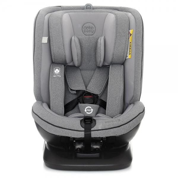 Autosedačka 0 - 36 kg Isofix Hevelius 2020 s 360 ° otáčením - grey melange