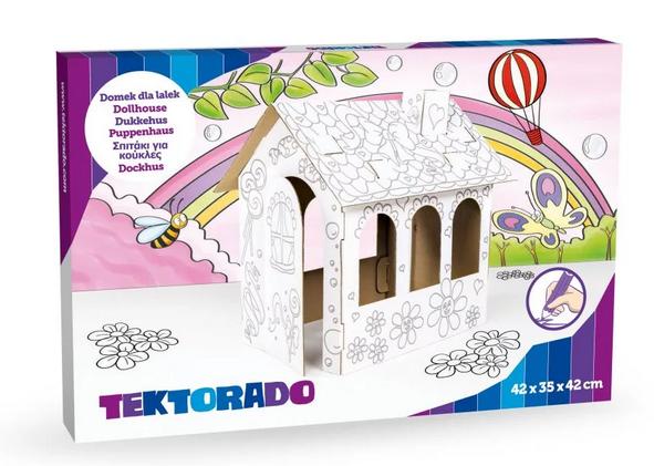 Tektorado Kartonový domek k vybarvení pro panenky