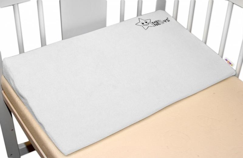 Baby Nellys Potah na klín, 60 x 36 cm - bílý