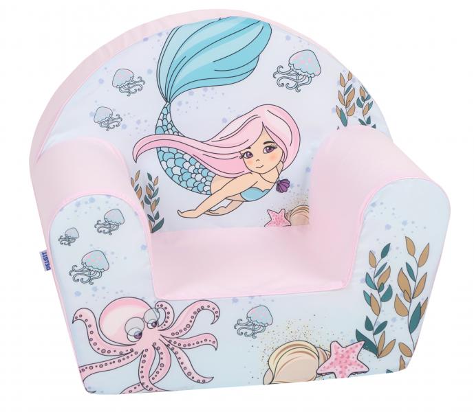 Delsit Dětské křesílko, pohovka - Mořská víla, světle růžová