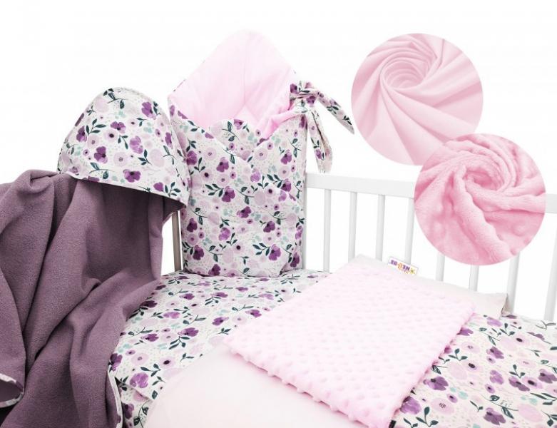 Baby Nellys 6-ti dílná výhodná sada s dárkem pro miminko, 120 x 90 cm - Luční kvítky, Velikost: 120x90