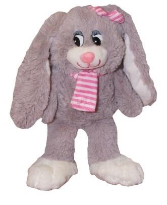 Plyšový králíček Nina s růžovým šálem,Tulilo, 30 cm