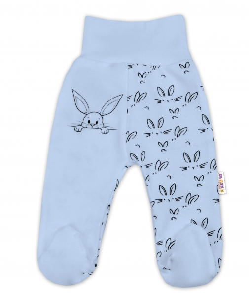 Bavlněné kojenecké polodupačky Baby Nellys ® - Králíčci - modré, vel. 62