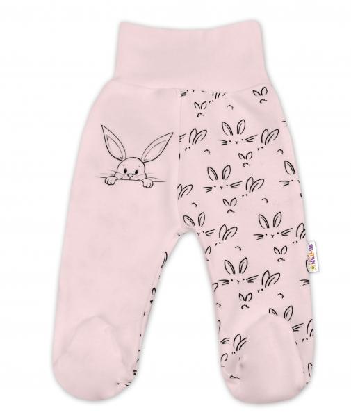 Bavlněné kojenecké polodupačky Baby Nellys - Králíčci - růžová, vel. 74