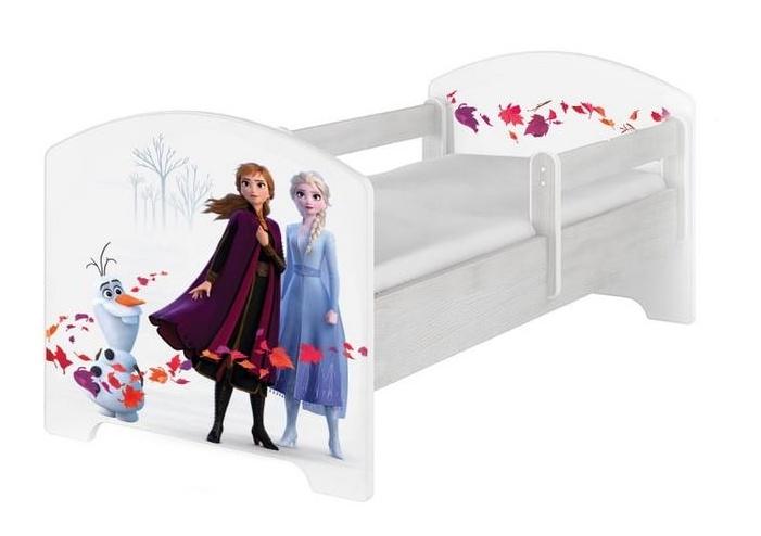 BabyBoo Dětská postel 140 x 70cm Disney - Frozen, bílá, norská sosna