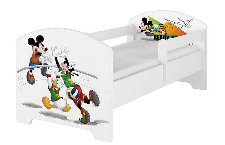 BabyBoo Dětská postel 140 x 70cm Disney - Mickey Volleyball, bílá