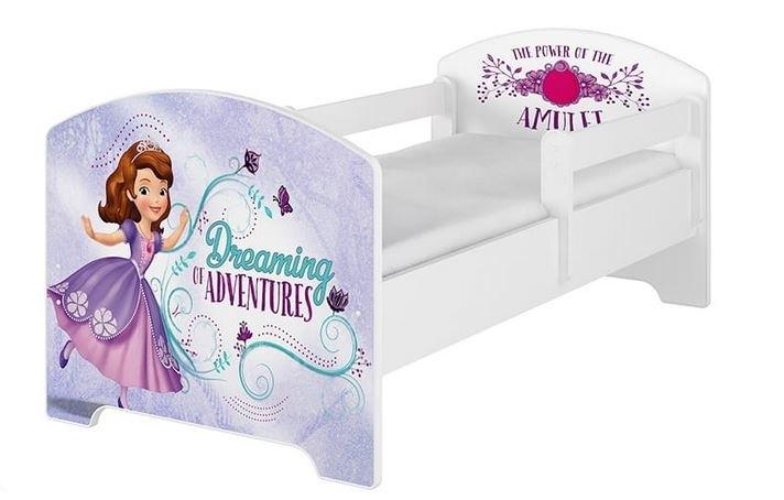 BabyBoo Dětská postel 140 x 70cm Disney - Sofie, bílá