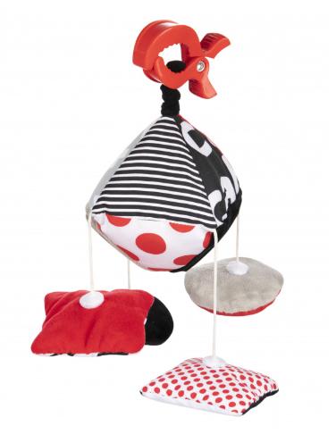 Canpol Babies Kontrastní závěsný kolotoč s klipem SENSORY TOYS