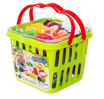 Košík plný zeleniny a ovoce + váha, plast