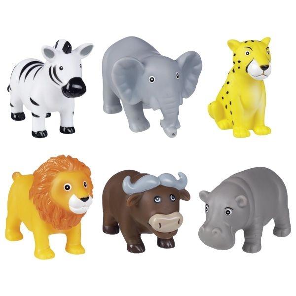 Goki Zvířátka do vody - Safari zvířátka, sada 6 ks