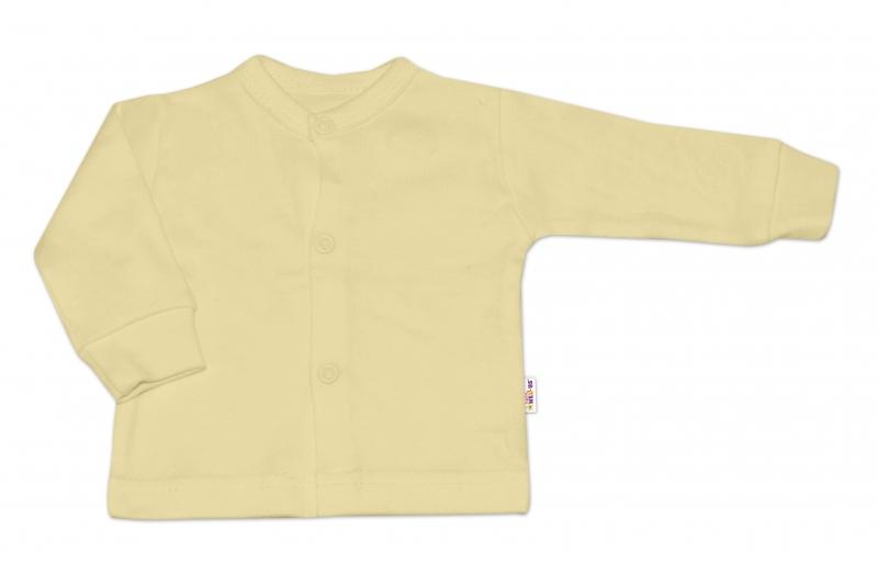 Baby Nellys Kojenecká neutr. sada košilka,kabátek BASIC - 3 ks, vel. 68