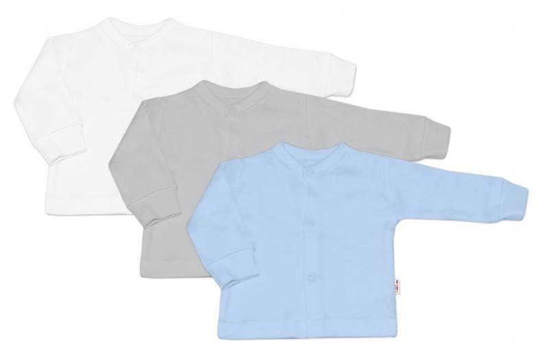 Baby Nellys Kojenecká chlapecká sada košilka,kabátek BASIC - 3 ks