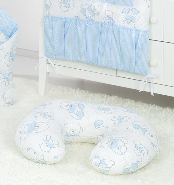 Mamo Tato Kojící polštář - Méďa, bílo/modrý