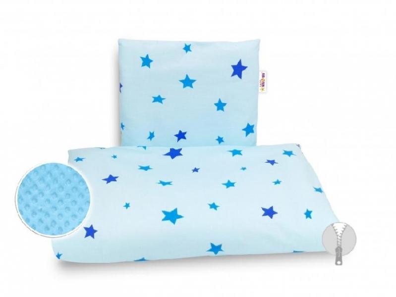 4-dílná sada do kočárku Minky, Baby Nellys - Hvězdičky modré