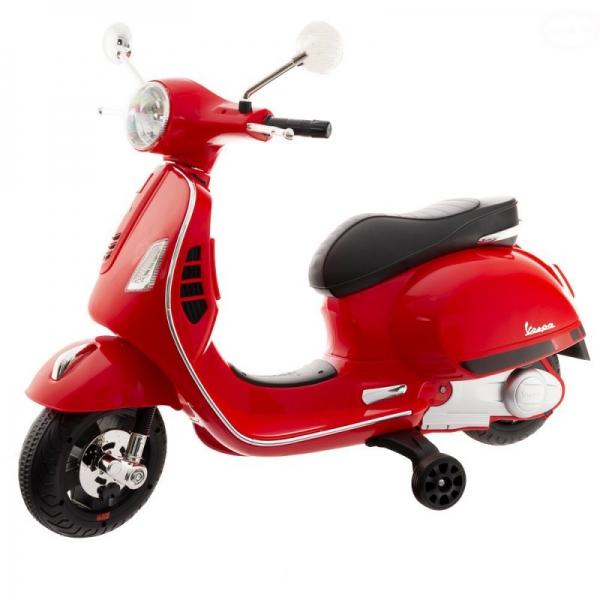 Euro Baby Akumulatorový skútr Vespa - Červený
