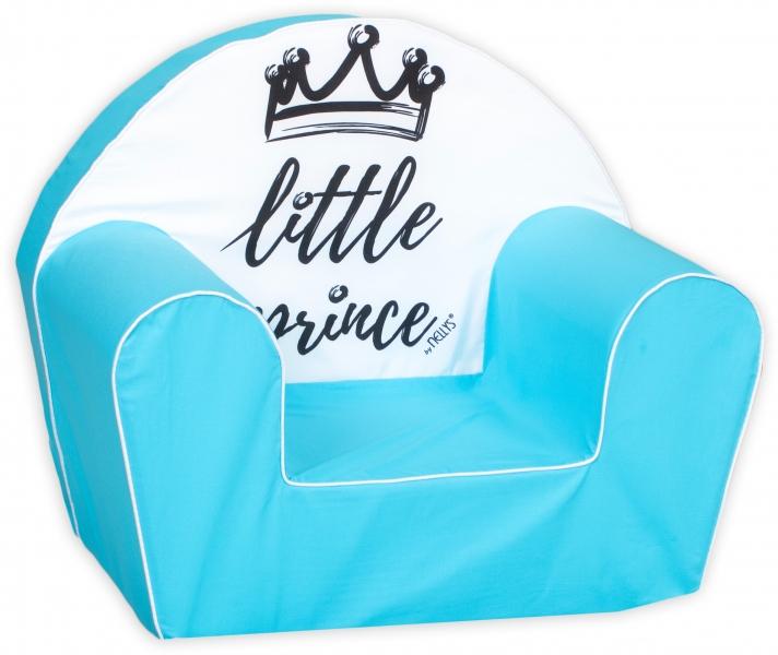 Baby Nellys Dětské křesílko LUX Little Prince, modré