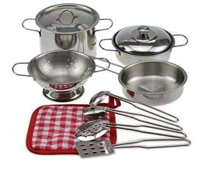 Dětská 13-dílná kuchyňská nerezová sada nádobí