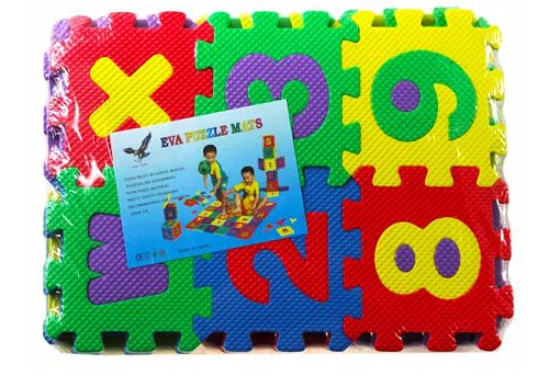 Pěnové puzzle číslice - 10 ks