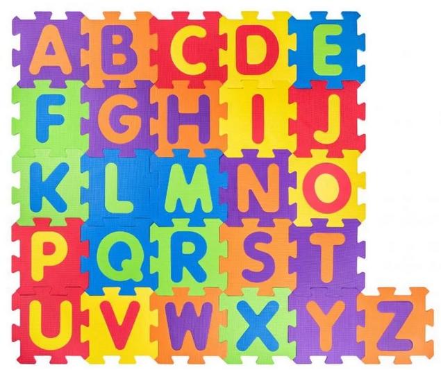 Pěnové puzzle písmena - 10 ks