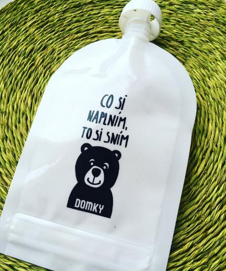 Domky Klasická plnitelná kapsička, 140 ml - Medvídek - 1 ks