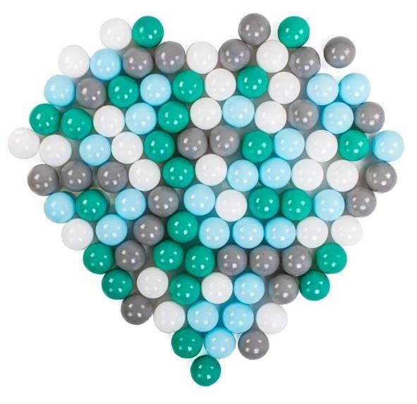 DRS Náhradní balónky do bazénu - 100ks, mix, šedá, zelená, modrá, bílá